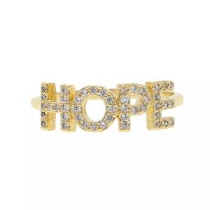 HOPE micro pave cz Gold fashion ring